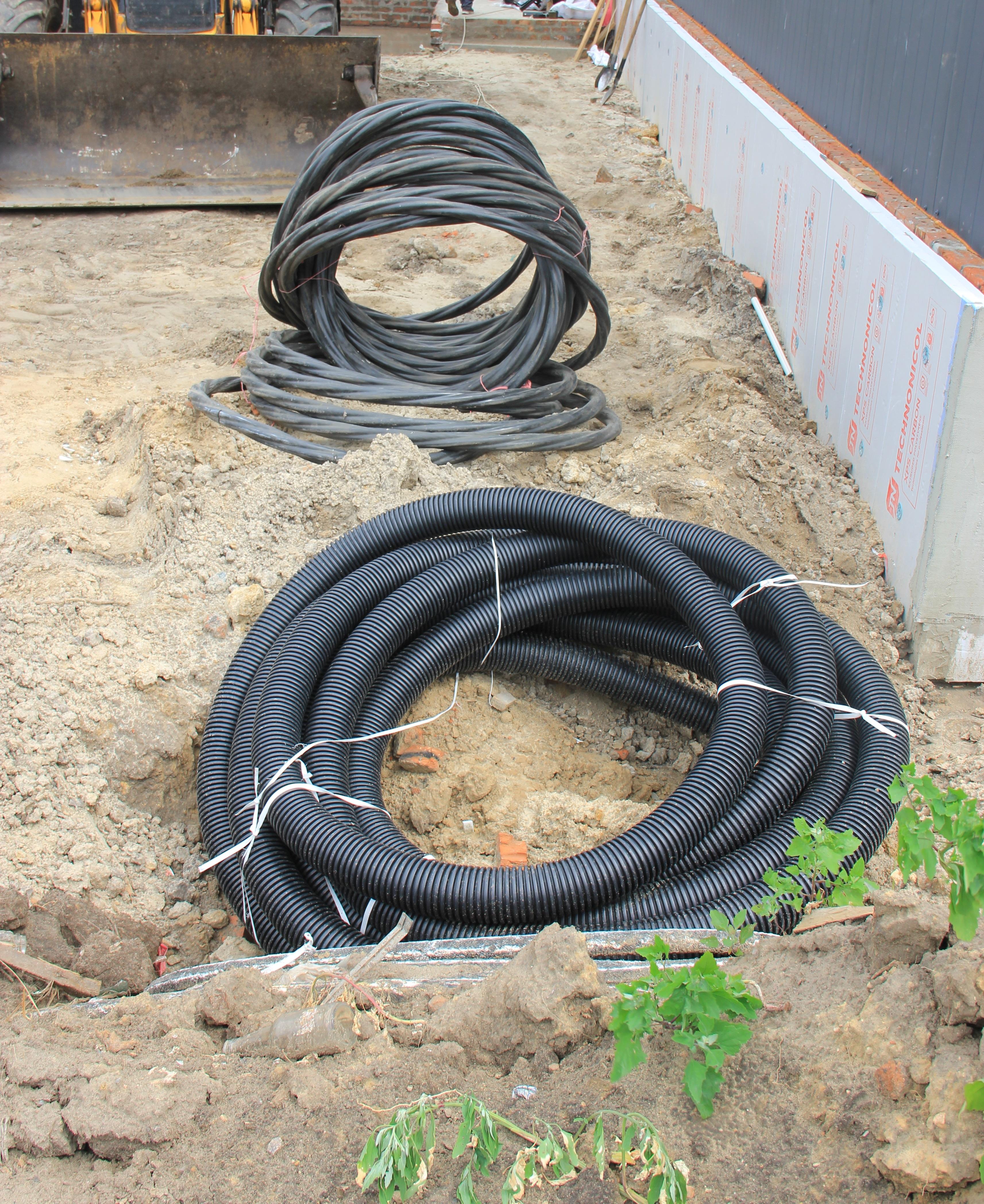 монтаж силового кабеля