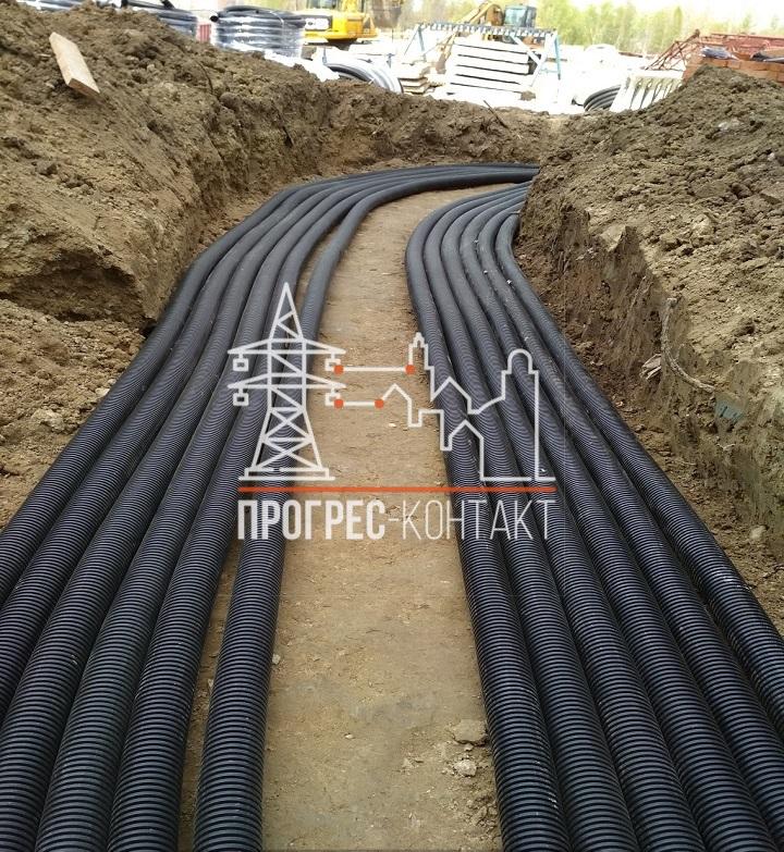 Строительство новых электрических сетей